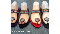 Bali Flip Flop Sandals Beaded Slippers