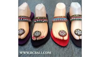 Bali Flip Flop Sandals Beaded Slippers