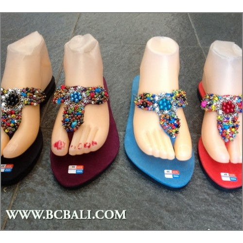6a1f946612ea Bali Handmade Sandals Beads Slippers - bali handmade sandals ...