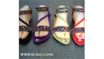 Bali Seed Fringed Sandals Beaded