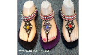 Bali Slippers Sandals Seeds Beading