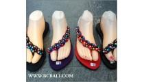 Bali Strappy Sandals Bead Slipper