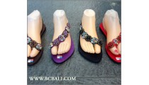 Bohemian Slippers Beaded Stretch Sandals Bali
