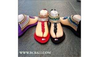 Flip Flops Bohemia Beading Sandals Bali