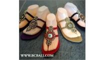 Fringed Sandals Beaded Slipper