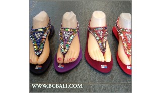 Indonesia Strappy Sandals Beads Slipper