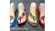 New Women Slippers Sandals Beads Slop