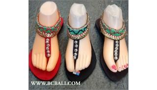 Slippers Sandals Full Beading Bohemian