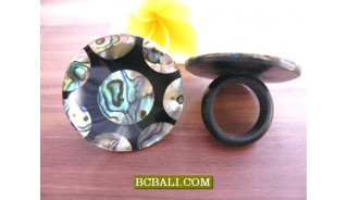 Abalone Shells Finger Rings Accessories Motif