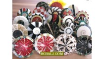 Balinese Seashells Finger Rings Resin Motif