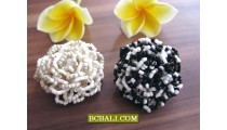 Beaded Flowers Finger Rings Handmade Bali Designs
