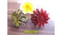 Leather Flowers Rings Fashion Accessories for Women