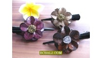 Leather Hair Accessories Clips Flower Design