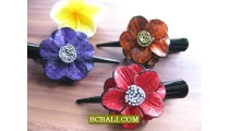 kids leather fashion handmade accessories leather flowers