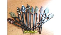 black wood hair stick ethnic designs accessories bali