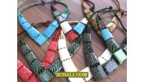 bone necklaces hand carved from cow tribal