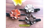 flowers hair fashion accessories made from leather