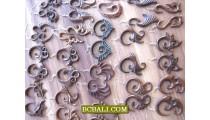 Hooked Wooden Piercings Tribal Hand Carvings