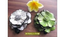 balinese leather hair slides accessories flower designs