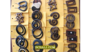 Natural Wooden Earrings Wholesale Free Shipping