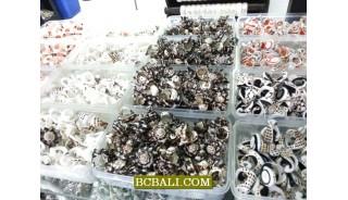 Olon organic seashells died finger rings wholesale