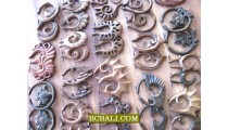 Bali Split Wooden Earrings Piercings Tribal Ethnic