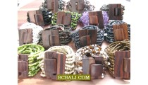 Bead Bracelet Wooden Buckles Clasps Stretching