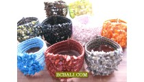 Cuff Bracelets Beads Sequins with Stone