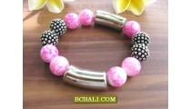 Beads Stone Steel Bracelets Stretch  Modern Designs