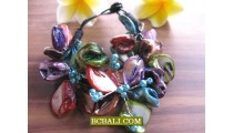 Afashion Beaded Shells Multi Color Fashion Bracelets