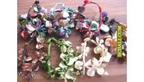 Charm Beads Shells Bracelets Flowers Package