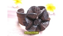 Ethnic Bracelets Leather Snake with Flowers Fashion