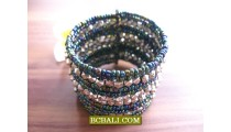 New Designs Beads Silver Cuff Bracelets Fashion