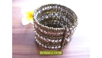 Beads Silver Variety Designs Cuff Bracelets Fixed