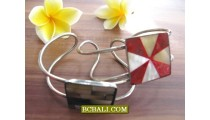 Balinese Stainless Steels Cuff Bracelets Shells Organic