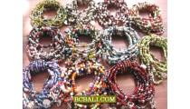 Charm Beads Bracelets Stretching Mix Color