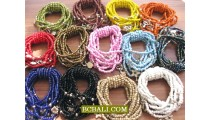 Beads Charm Bracelets Multi Strand Mono Color