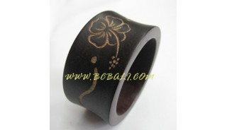 Bali Wooden Carved Bangles Handmade
